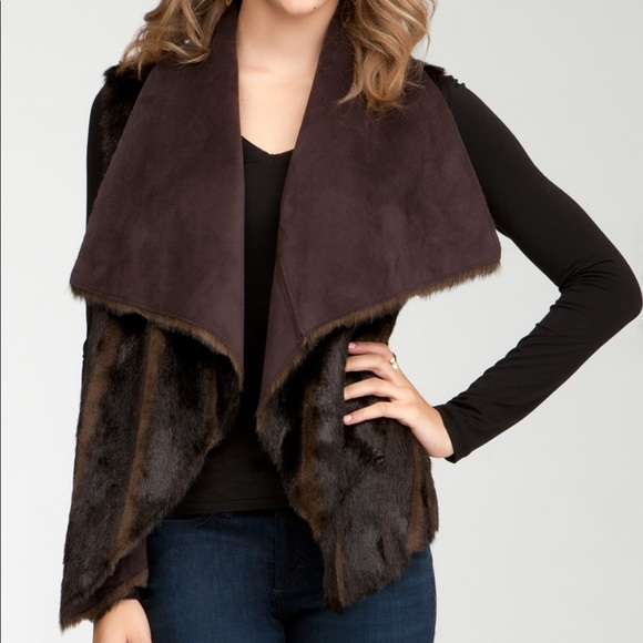 Bebe Reversible Faux Fur Vest